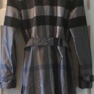 Burberry Plaid Raincoat never worn